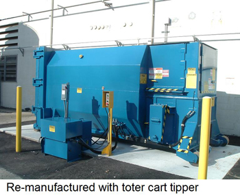 re-manufactured with toter cart tipper