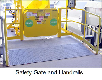 Safety gate and handrails.