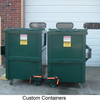 Custom space saver containers for apartment building