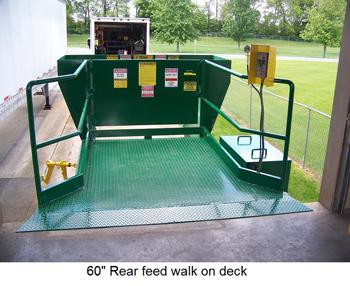 custom 60 inch rear feed walk on deck