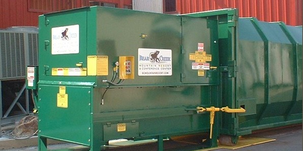 Recycling Compactor with Two Door Feed